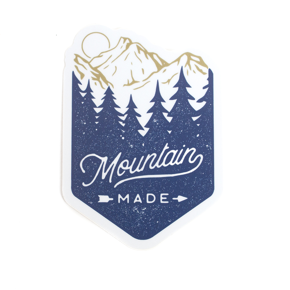 Sticker, Northwest Theme, Mountain Made